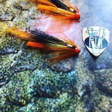 2 V Fly 1 Inch Gold Mylar Hot Orange Cascade Salmon Tube Flies