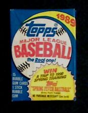 UNOPENED 1989 Topps Baseball Wax Pack (Sealed) -- Griffey, Wells Rookie Cards?
