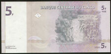 Congo 5 Francs 1997 Pick 86A UNC Low number 0000123
