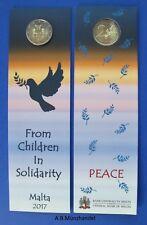 """Malta 2017 Coincard  2 Euro """"Peace - Frieden"""" (Münzzeichen """"Monnaie de Paris"""")"""