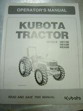 Kubota ME5700, ME8200, ME9200 Owners Manual