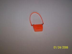 Vintage Barbie Francie Mini Chex Wild N Wooly Orange Shoulder Bag Purse EXC