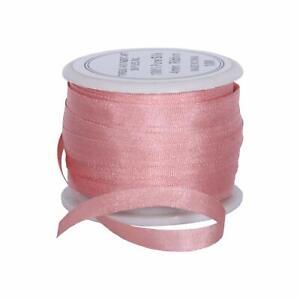 Threadart 100% Pure Silk Ribbon - 4mm Pale Pink - No. 540-3 Sizes - 50 Colors