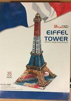 EIFFEL TOWER PUZZLE 3D PRETROQUELADO CUBICFUN,35 pcs,REF.C044T