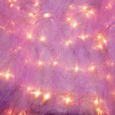 Organza Vorhang LILA beleuchtet 100 LICHTER 120x120 cm Lichterkette Weihnachten