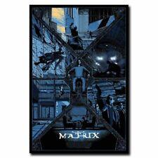 Hot The Matrix Fight Classic Movie Retro Film Print Art Silk Poster