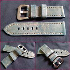 Per Panerai-cuoio Jeans-cinturino watch strap vera pelle 24/22 mm pari al nuovo