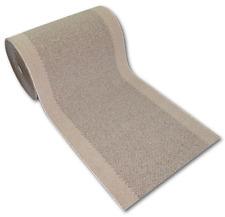 Läufer Teppich PORTO beige braun 80 cm rutschfest waschbar