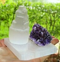 Meditation Crystal Kit Amethyst,Tourmaline,Orange Calcite,Blue Sodalite Selenite