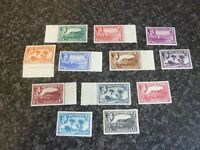 MONTSERRAT POSTAGE STAMPS SG101-112 GVI PERF 14 &12 MOSTLY UN MOUNTED MINT