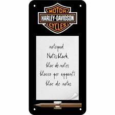 Nostalgic Art 84020 Harley-davidson Logo Sign Notepad 10 x 20 cm Nostalgic-art
