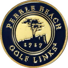 PEBBLE BEACH - BLUE - Retro STYLE Magnetic GOLF BALL MARKER