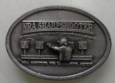 Vintage Belt Buckle NRA SHARPSHOOTER NRA Institute For Legislative Action