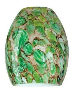 Pendant Light Art Glass Shade Hand-Blown Imperial Jade Green (Shade Only)