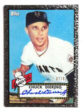 Chuck Diering 2011 Topps Black Diamond Redemption Auto /60 New York Giants 1952