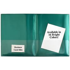 Plastic 2-Pocket Folders- Clear Overlay-10-Pack- R900_-10