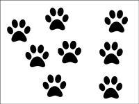 New 50 x small black paw prints vinyl stickers  decal 3cm x 3cm decor car wall