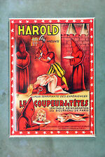 Harold Magician Poster Refrigerator Magnet 1920s French Magic Show Headless