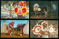 Group of 4 Indian post cards..
