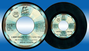 Philippines STEVIE WONDER I Just Called To Say I Love You 45 rpm Record