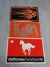 90's rock sticker lot of 3 korn deftones static x metal alternative