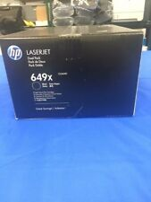 Genuine HP 649X, CE260X, CE260XD LJ CP4525 Dual Pack Black Toner Cartridges NIB