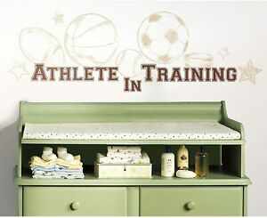 ROOMMATES Wall Decals Athlete In Training Repositionable Peel And Stick 23 PC