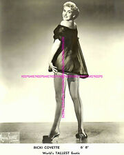"RICKI COVETTE 6' 8"" WORLD'S TALLEST STRIPPER LEGGY IN FISHNETS 8x10 PHOTO S-RCa"