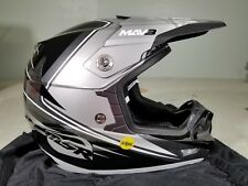 MSR Malcom Smith Racing Helmet Mav 3 W/Mips SIL/BLK TR#359807 XL Retails 249.95