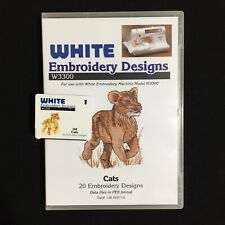 Cats Embroidery Designs Card Fits  Deco Brother Baby Lock White
