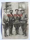 WWII ORIGINAL SOVIET WAR LARGE PHOTO PARTISANS W WEAPON ARMS KHARKIV 1941