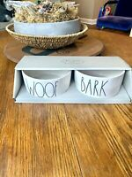 Rae Dunn WOOF BARK Dog Bowl Set 2020 Collection Brand New SHIPS FREE TODAY