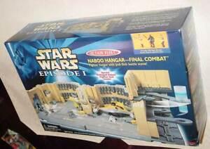 STAR WARS EPISODE I NABOO HANGAR FINAL COMBAT PLAYSET OPENED BOX NEVER ASSEMBLED