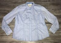 Women's Panhandle Slim Rough Stock Western Pearl Snap Top Size XL