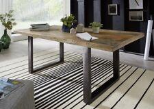 Esstisch Tisch 160x90cm Mango massiv vintage Eisen lackiert Holz NEU OVP!!!!