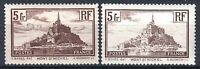 "FRANCE STAMP TIMBRE 260 / 260a "" MONT SAINT MICHEL TYPE I+II "" NEUFS xx TTB P765"