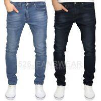 Enzo Men/'s Designer Branded Combat Cargo Stonewash Blue Regular Fit Jeans BNWT