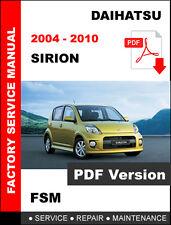 2004 2005 2006 2007 2008 2009 2010 DAIHATSU SIRION OEM SERVICE REPAIR FSM MANUAL