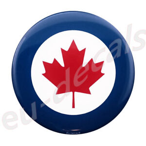 3.50inc 90mm Canadian Air Force 3D Decal Domed sticker car truck suv boat flag