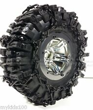 "2 Black Snow Chains Fit RC4WD # Z-T0097 RC4WD Mud Slinger 2.2"" Tires. Crawler"