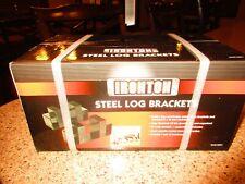 Ironton Steel Log Brackets build a log rack brand new in box Item # 42871