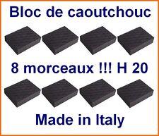 8 X bloc de caoutchouc 110x140x20 mm. pour Pont elevateur - tampons - Italie
