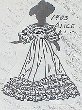 "Antique Doll Dress Pattern Alice 1903 Nice 4 China - Parian Doll sizes 9"" to 27"""