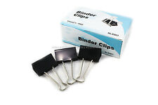 """New 12 PCs 51mm 2"""" Binder Clips, small Size Metal Paper Binding Office 1 DOZ"""