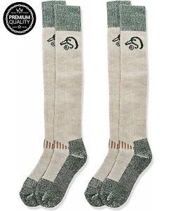 2 Pair Ducks Unlimited Merino Wool Wader Tall Extra Long Heavyweight Warm Socks
