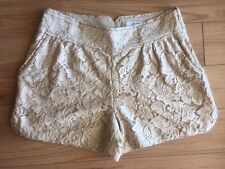 DIANE VON FURSTENBERG Cute Beige Floral Lace Madonna Shorts Size 2