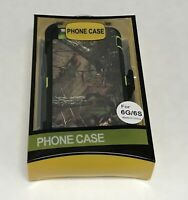 Heavy Duty Defender Shockproof Case Cover + Belt Clip for iphone 6 6s Camo Green