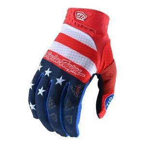 Troy Lee Designs Full Finger AIR GLOVE; STARS & STRIPES RED / BLUE XL