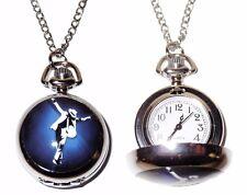 Michael Jackson Silvertone Pendant Pocket Watch