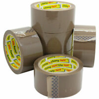 STRONG BROWN PARCEL PACKING PACKAGING CARTON SEALING TAPE SELLOTAPE 48MM X 66M
